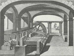 Handpappenfabrik um 1760